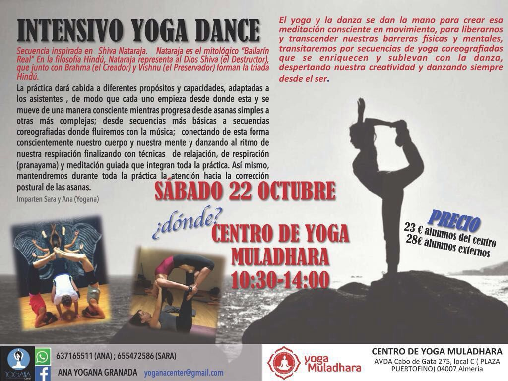 Taller Yoga Dance Yoga Muladhara Almeria