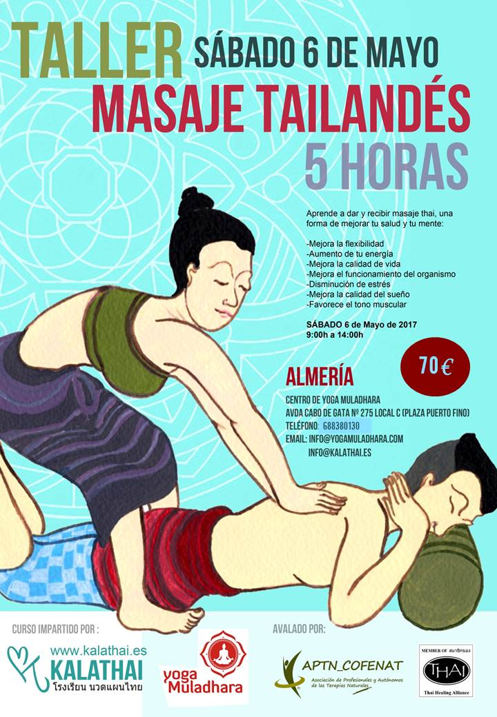 Taller de Masaje Tailandés en Yoga Muladhara
