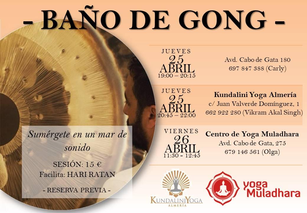 Baño de Gong en Almería