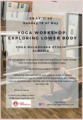 Yoga Workshop Exploring lower body